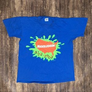 Vintage 1993 Nickelodeon Love Tour Tee